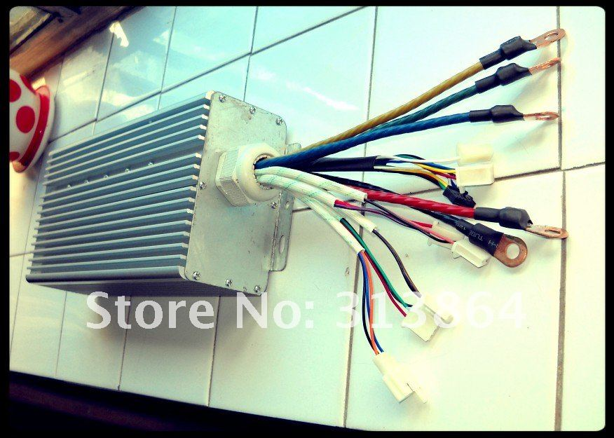 36 Mosfet 5000W 48-120V 100Amax BLDC motor controller, EV brushless speed controller36 Mosfet 5000W 48-120V 100Amax BLDC motor controller, EV brushless speed controller