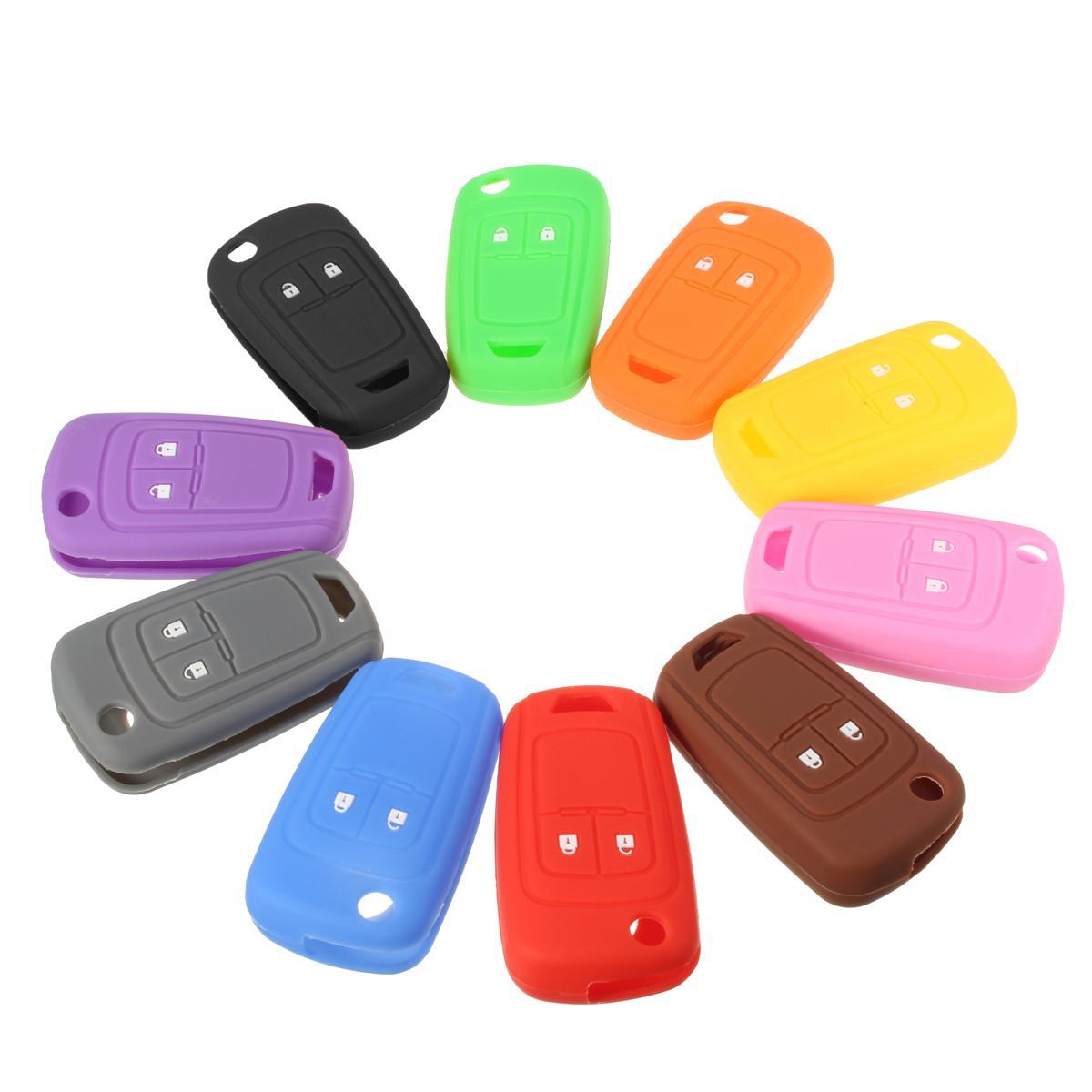 10 Color Multicolor 2 Botton Silicone Key Shell Cover For VAUXHALL ASTRA OPEL CORSA INSIGNIA Multicolor