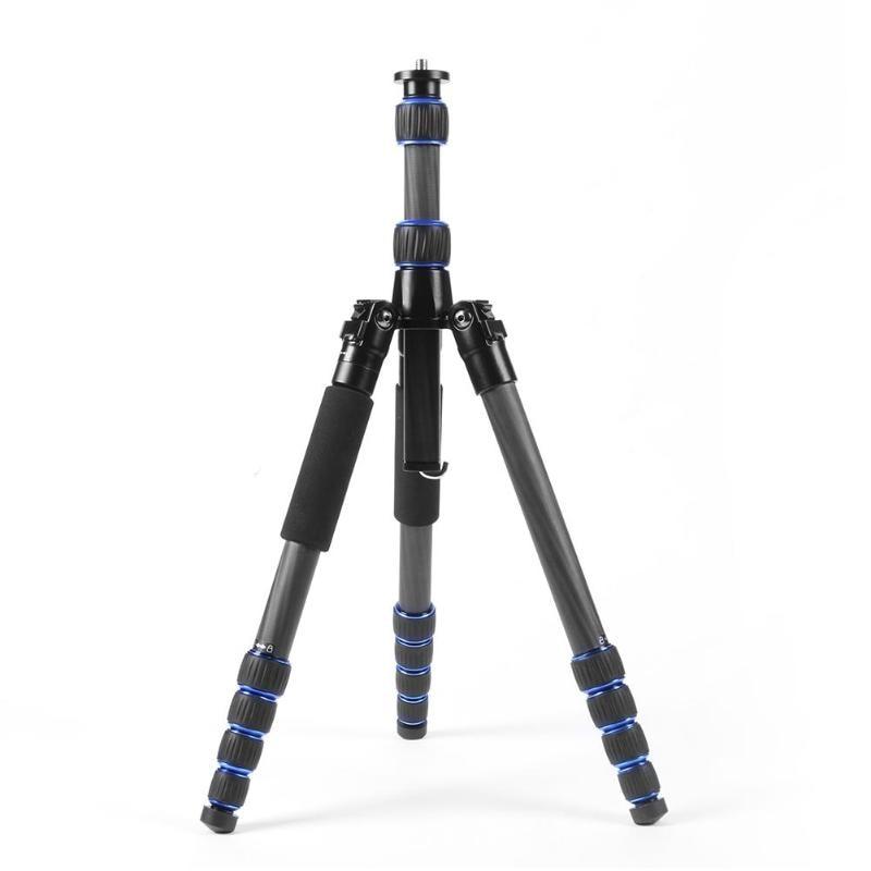 Portable Carbon Fiber 5 Section Foldable Travel Tripod Extendable Monopod Stand Holder for Digital SLR Camera