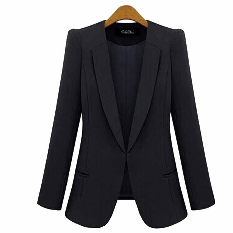 New Fashion Style Summer Winter Blazer Jackets Slim Thin Blue Cardigan Outwear Coats Business Ladies Leisure Blaser Femme
