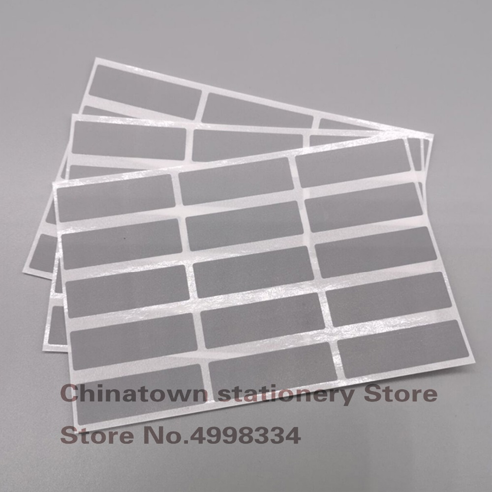 150pcs 15MM*48MM Gray Scratch Off Sticker Labels DIY Adhesive SCRATCH OFF DIY Password Sticker