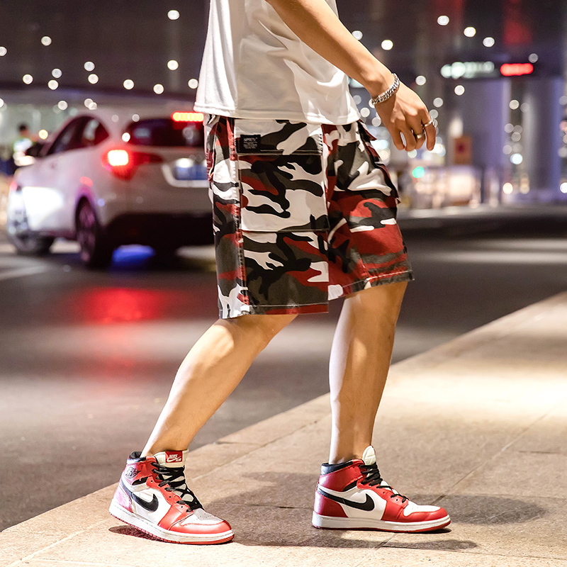 Enthusiastic Camouflage Overalls Shorts Mens Tide Brand Yu Wenle Five Pants Loose Straight Student Mens Large Size Youth Pants An Indispensable Sovereign Remedy For Home Men's Clothing