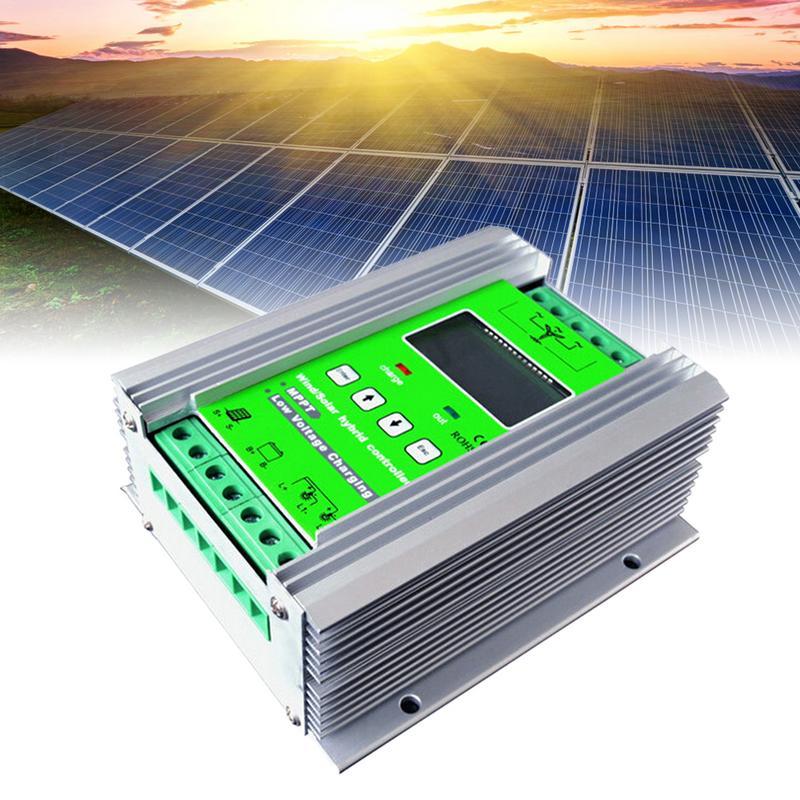 1200 Вт MPPT Солнечный ветер гибридный контроллер заряда 24 В 40A для 800 Вт Ветер 400 Вт Солнечный с усилителем и Бесплатная дамп нагрузки