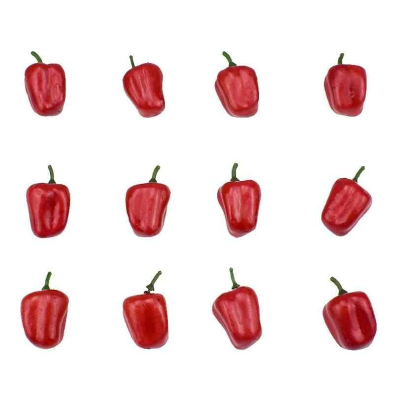 Frutta Verdura Cibo In Miniatura Casa di Bambola Gioco Regalo Mini Simulazione di Verdure Pepe Zucca Aglio Giochi di imitazione Giocattolo di Taglio