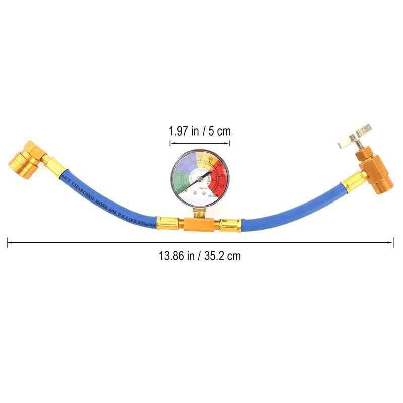 R134A хладоагент кондиционирования воздуха зарядки шланг с манометром для автомобиля (1/2 нить для Америки и Европы)