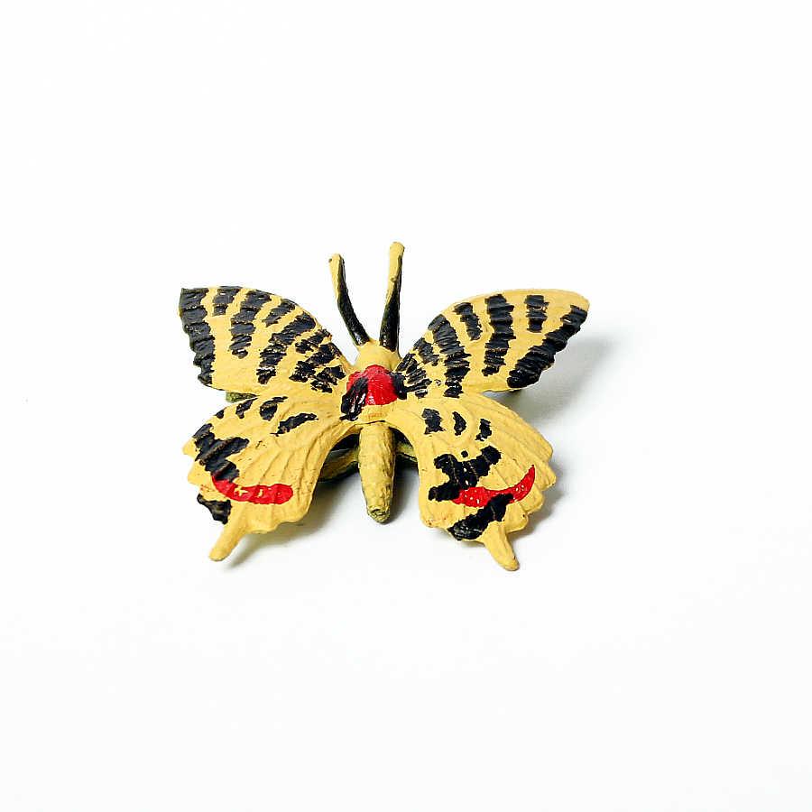 Animal Simulação de Explorador Duplo Asa de Borboleta Artificial, Borboletas Playset Figura de Ação DO PVC Brinquedos Modelo Animal para crianças