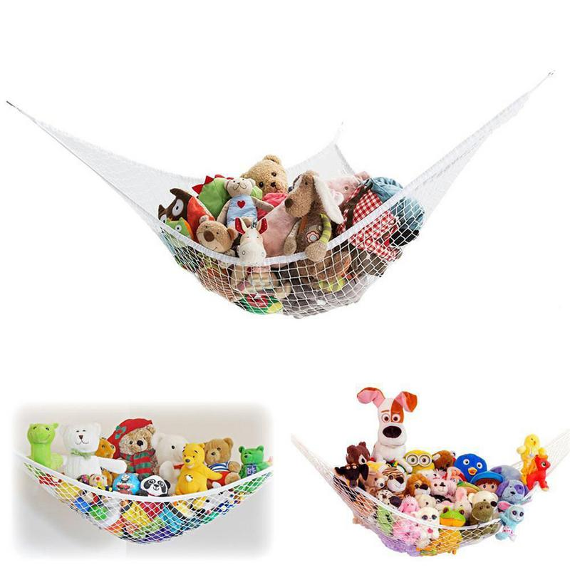 Organizer Stuffed Tidy Storage Teddy Childs Organize Large Bedding 25lbs Dolls Kids Soft Baby Bedroom Mesh Toy Hammock Animals Activity & Gear