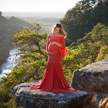 Maternity Dress For Photo Shooting Boat Neck Dress Maternity Photography Props long Sleeve Stretch Pregnant Dress все цены