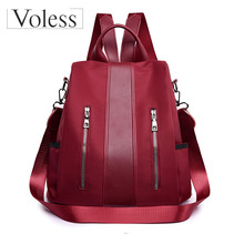 New Casual Oxfort Backpack Bags for Women Female Ladies Teenager Girls 2019 High Quality School Student Back Pack Bag