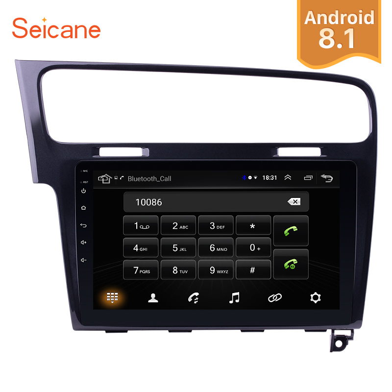Seicane Android 8.1 10.1 inch 2Din Car Radio GPS Quad-Core Stereo Multimedia Player For 2013 2014 2015 <font><b>VW</b></font> Volkswagen <font><b>Golf</b></font> <font><b>7</b></font> image