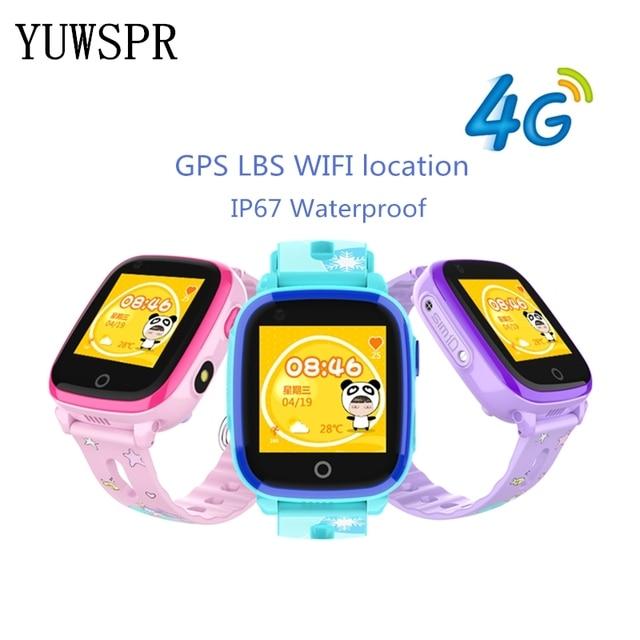 e7e223bb0f6c Barato Los niños rastreador relojes 4G inteligente reloj IP67 ...