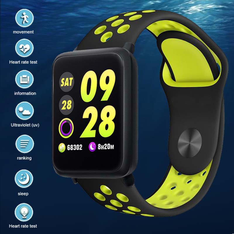 Men&#39s Waterproof IP67 watch women Fitness Heart Rate Monitor Blood Pressure Pedometer Bluetooth Smart Wristban IOS/Android