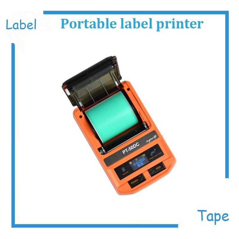 Mini portable fabricant d'étiquettes imprimante étiquette ruban imprimante thermique imprimante d'étiquettes plus 38mm 4 pièces blanc et 2 pièces jaune étiquettes