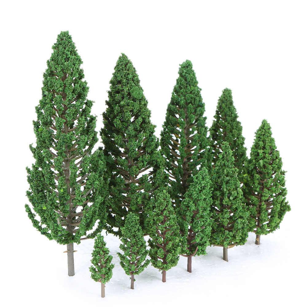 22pcs Ho Scale พลาสติก Miniature ต้นไม้สำหรับอาคารรถไฟรถไฟ Scenery Landscape อุปกรณ์เสริมของเล่นสำหรับเด็ก