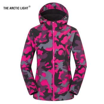 THE ARCTIC LIGHT Women Men Fleece Fishing Camping Hiking Jacket Camouflage Waterproof Warm Windproof Outdoor Skiing Coat Rosy цена 2017