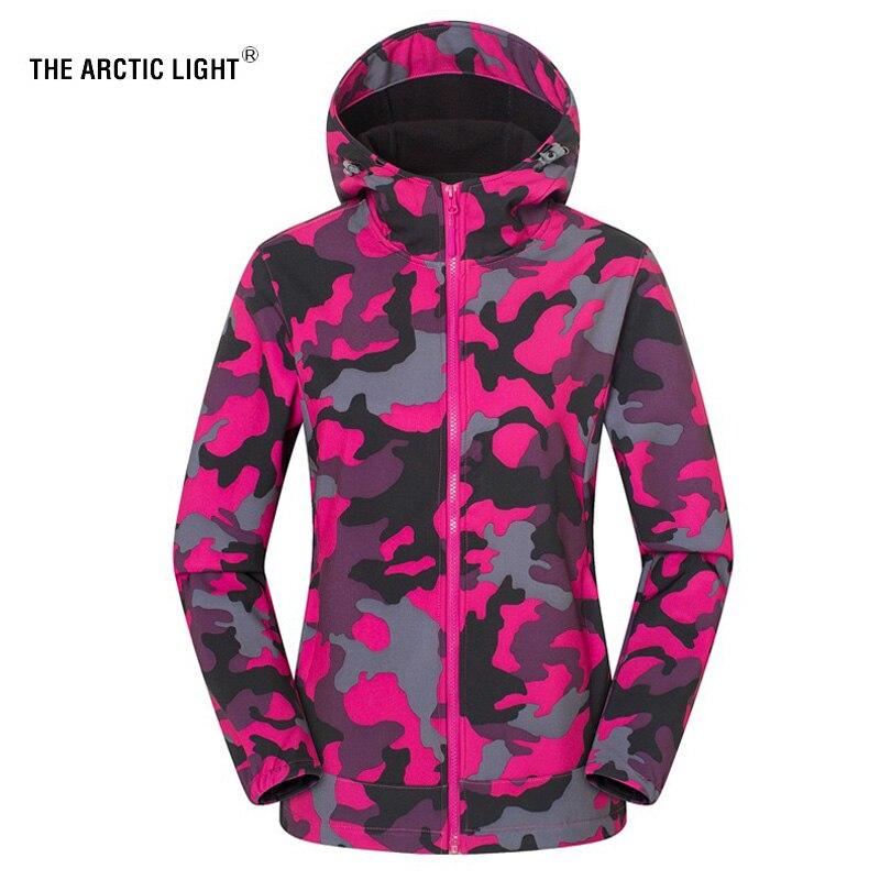 a luz do artico mulheres homens velo camping pesca caminhadas camuflagem jaqueta casaco de esqui ao