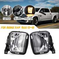 2pcs 12V 3000K Clear Bumper Fog Halogen Lights For Dodge RAM 1500 2013 2014 2015 2016 2017 2018