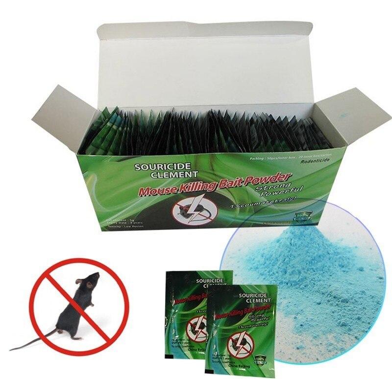 20pcs/lot Effective Mouse & Rat Poison Powder Mice Killing Bait Rat Mice Repeller Trap Pest Control Rat Poison Poisoning