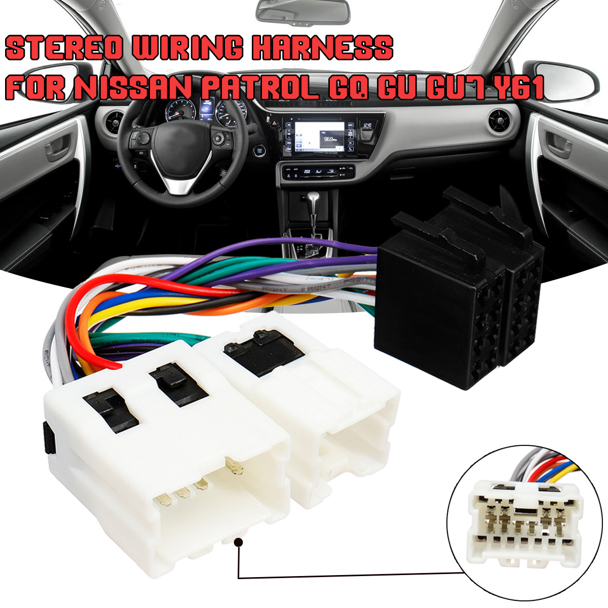12-019 ISO Standard Power Adapter Wiring Harness Specific for Nissan on
