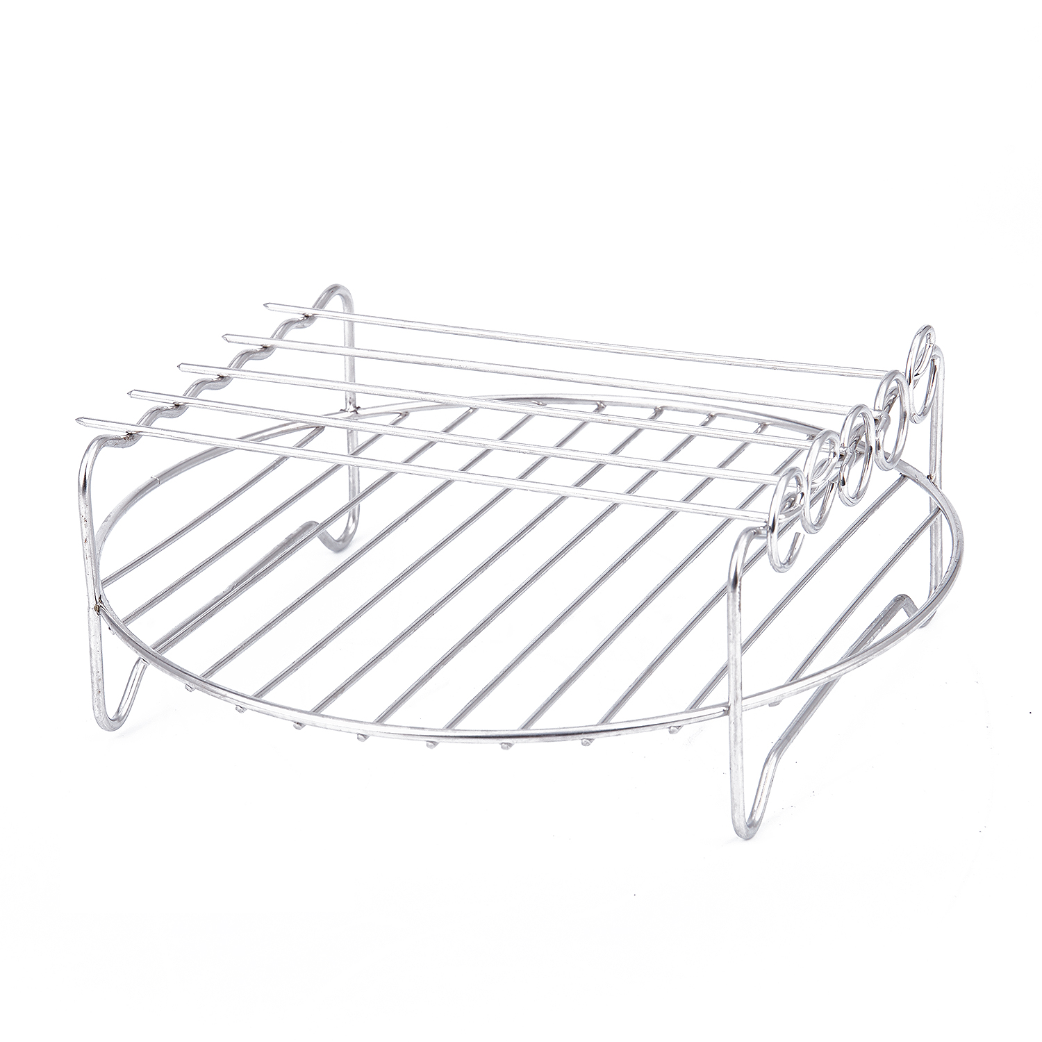 Airfryers Double Layer Rack Accessory With 5 Skewers For Dishwasher-safe And Easy To Clean Enjoy Your Healthy Meals! Please