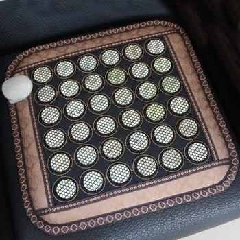 220V Massager Healthcare Korea Germanium Tourmaline Massage Mat Mix Jade Mattress Electric Heating Therapy Pad Cushion