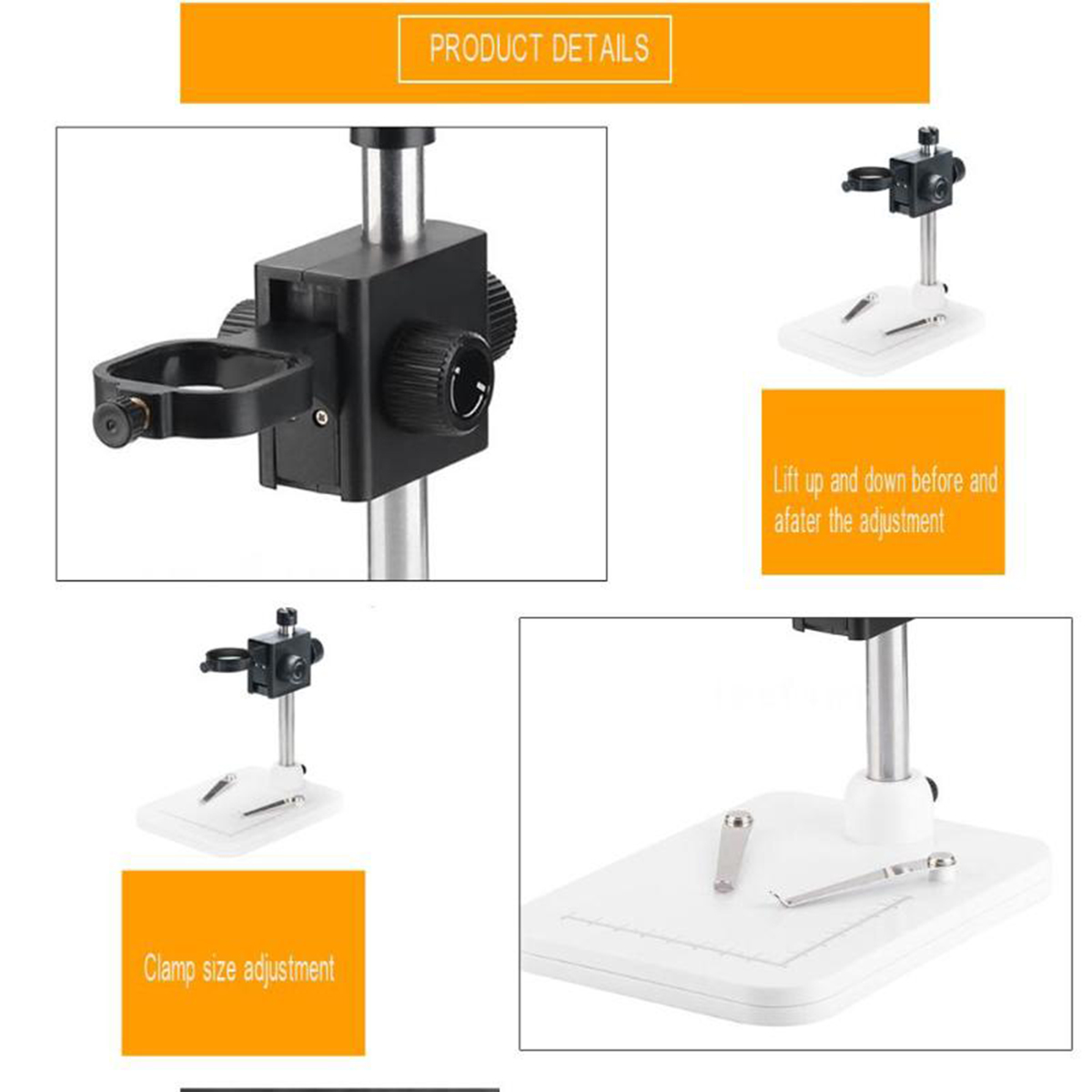 1000x Mega Pixels Digital Microscope with LCD Display and 8 LEDs Stand for Motherboard Repair 4
