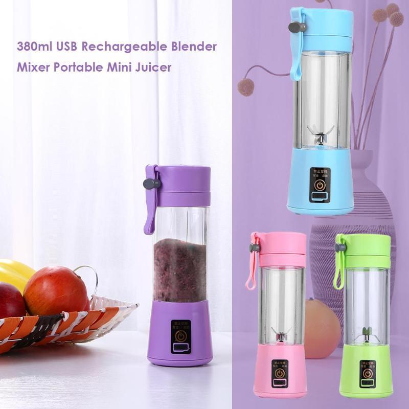 380ml USB Rechargeable Mixer To Go Portable Mini Juicer 4/6 Blade Blendy Go Blender Smart Juice Mixer Machine Smart Home Homekit