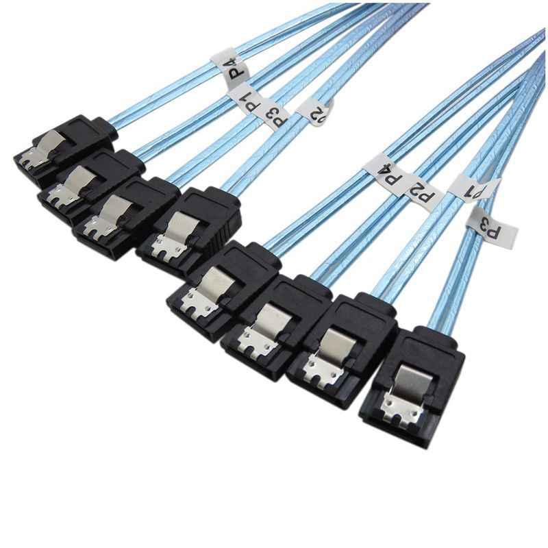 Высокоскоростной 6 Гбит/с 4 шт./компл. Sata кабель Sas кабель для сервера 1 м
