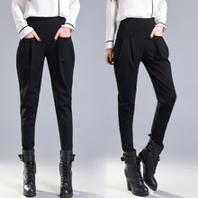 England Style Harem Pants Women Spring High Waisted Black Pencil Trousers Ladies Elegant Skinny Plus Size Breeches