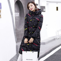 Hooded Winter Jacket Women Black White 2018 High Quality Womens Coat Long Parka Warm Thicken Outwear Camperas Mujer Invierno