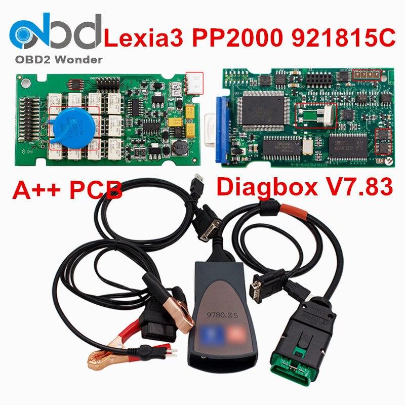 2018 Lexia3 Pp2000 921815c Scanner de Diagnostic de voiture Lexia 3 Diagbox V7.83 Lexia-3 pour Peugeot Forcitroen outil de Diagnostic pleine puce