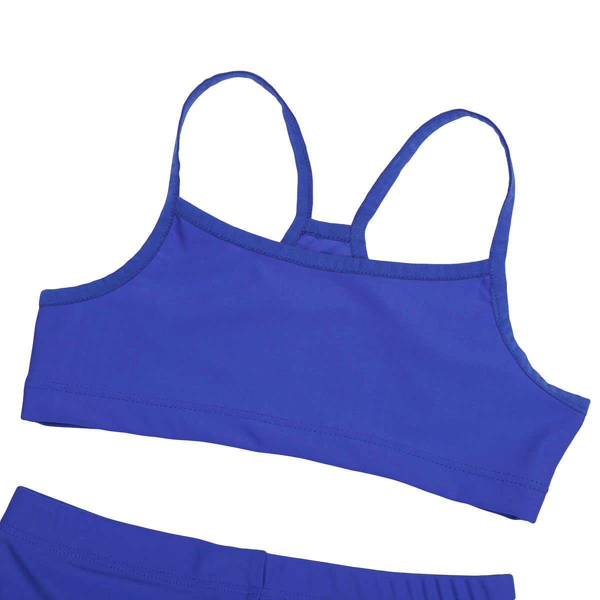 2 PCS Anak Perempuan Tankini Tank Top dengan Celana Senam Celana Pendek Tari Gym Tanpa Lengan Celana Dalam Celana Dalam Pakaian Renang Pantai Musim Panas