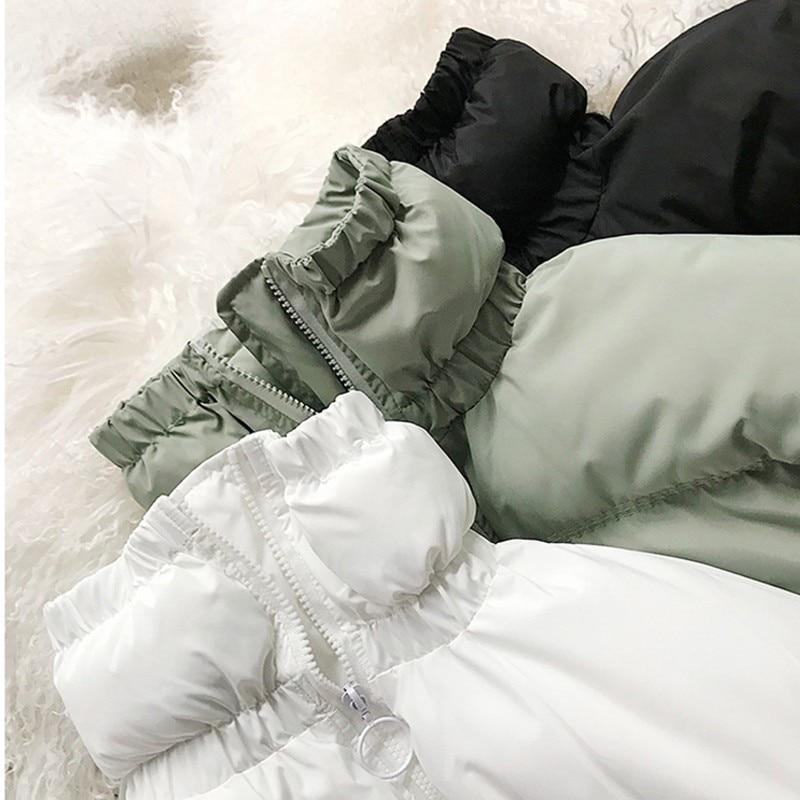 À Col Coton Manteau Mint Femme Printemps White Lâche Épais Ourlet Manches Nouvelles Zipper Noir Longues pearl Vêtements black Oc958 Haut Green 2019 Shengpalae Hiver Femmes qPR8XTwT