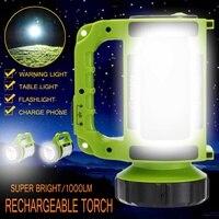 LED Camping Lantern Light Flasher Mobile Power Bank Flashlight USB Port Camping Tent Light Outdoor Portable Hanging Lamp