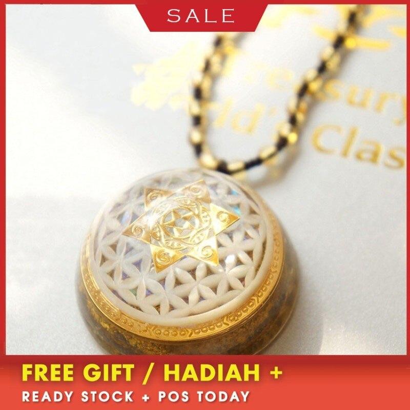 AURAREIKI Orgonite Pendant Wishing Wishes Curse Thoughts Into Anti radiation Conversion Energy Aura White Crystal Key Necklace