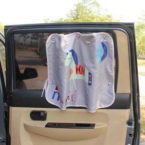Image 4 - 70*50cm רכב קריקטורה וילון כיסוי שמש חסימת אוטומטי וילון צד חסימת מתיחה שמשיה וילון לילדים לרכב סטיילינג