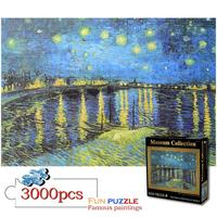 3000 Pieces Jigsaw Puzzles Painting DIY Creativity Imagine Art Toys Set For Kids Adults Develop Patience Focus Reduce Pressure