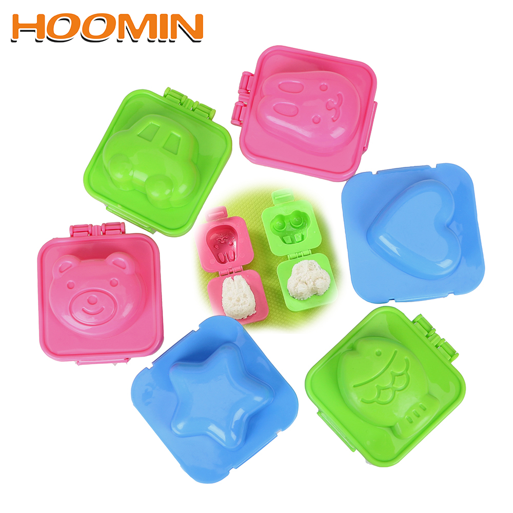 HOOMIN Kitchen DIY Chef Rice Ball Mould Kitchen Accessories Cartoon Sushi Maker Rice Roll Mold Boiled Egg Tool image