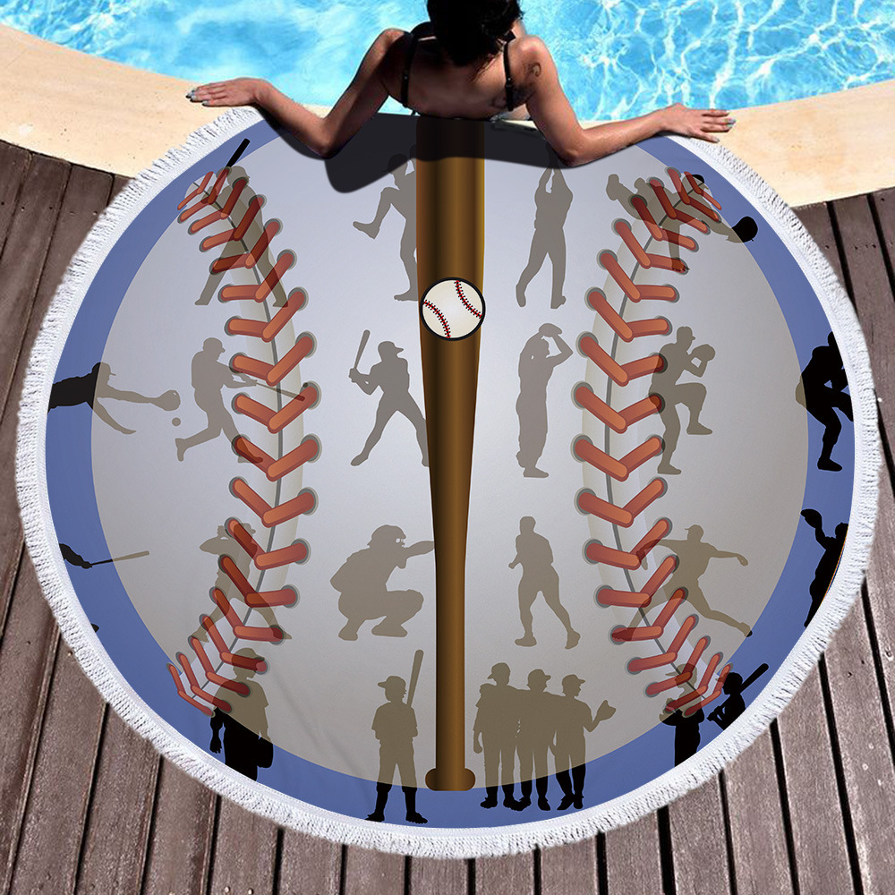 Beach Blanket Volleyball: Baseball Football Soccer Volleyball Sport Microfiber Round