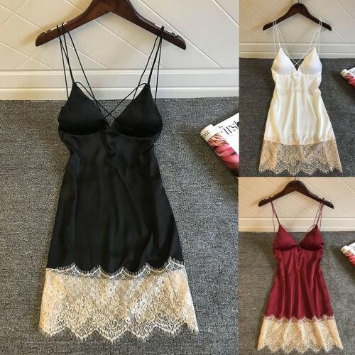 New Ladies Sexy Lingerie Silk Robe Dress Pajamas Nightdress Nightgown Babydolls Sleepdress