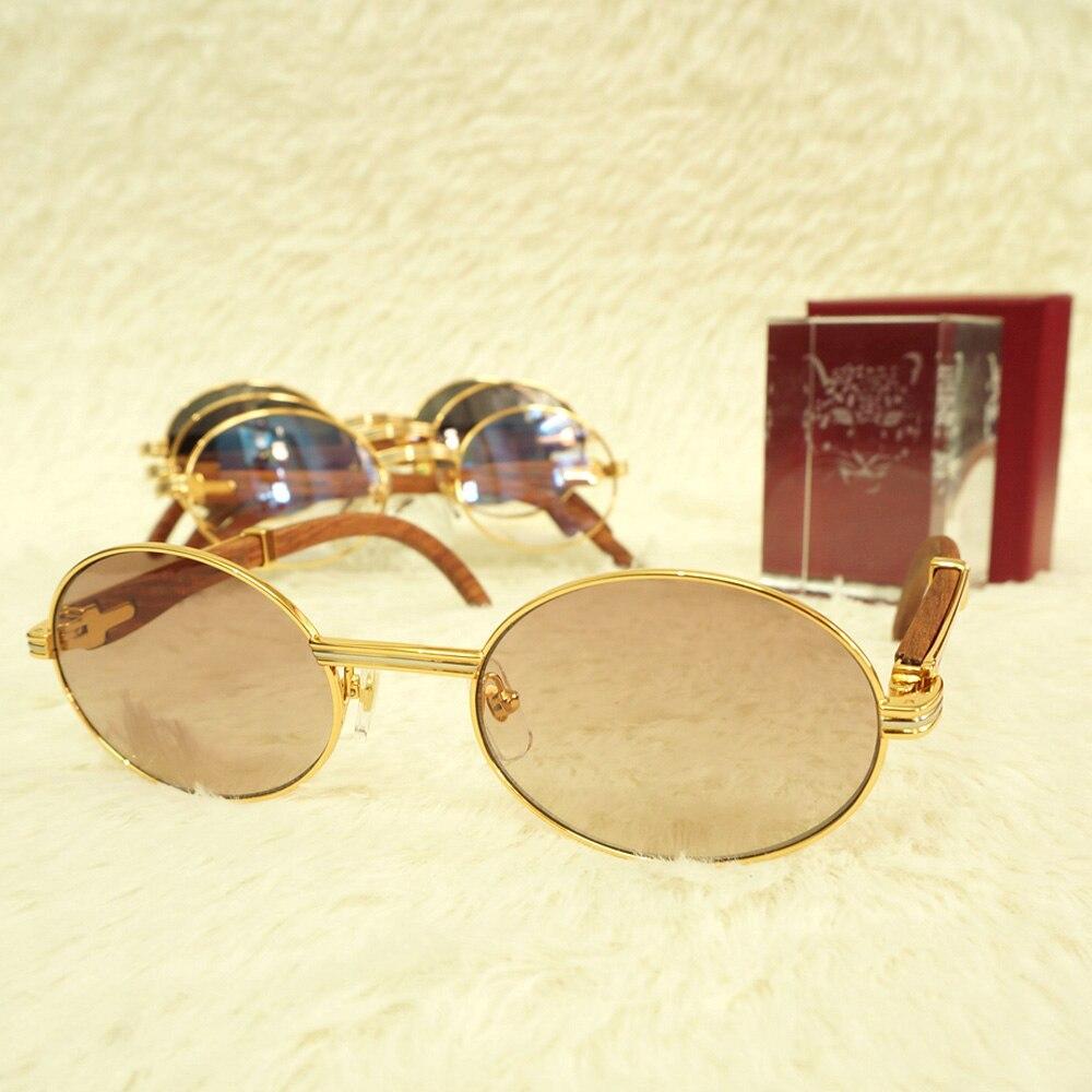 b00b8439 Oval gafas de sol hombres mujeres Carter gafas Changeable Lens para varios  estilo Retro diseño de gafas de lectura marco llenar receta