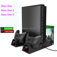 Cooling Vertical Stand Dual Controller Charger Charging Station with 2PACK 600mAh Batteries for Xbox ONE/S/X Game Console