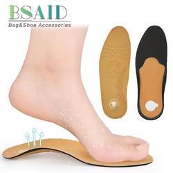 BSAID ортопедические стельки для обувь женщин для мужчин унисекс арки поддержка обуви стельки из искусственной кожи Flatfoot дышащий обувь EVA Pad