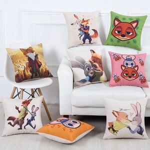 The Movie Zootopia/Zootropolis Judy Hopps Nick Chief Bogo Sofa Throw Pillowcase Home Decor Pillow Case Cover Cushion Cover New