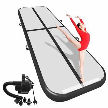 Бесплатная доставка, 6 м/7 м/8 м * 1 м * 0,2 м надувной гимнастический воздушный трек для детей и взрослых, один бесплатный электронный насос