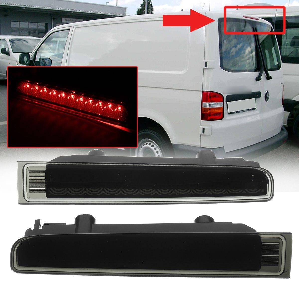 UK NEW VW Transporter T5 T6 Rear Red bumper Reflector Right O//S 2010 Onwards