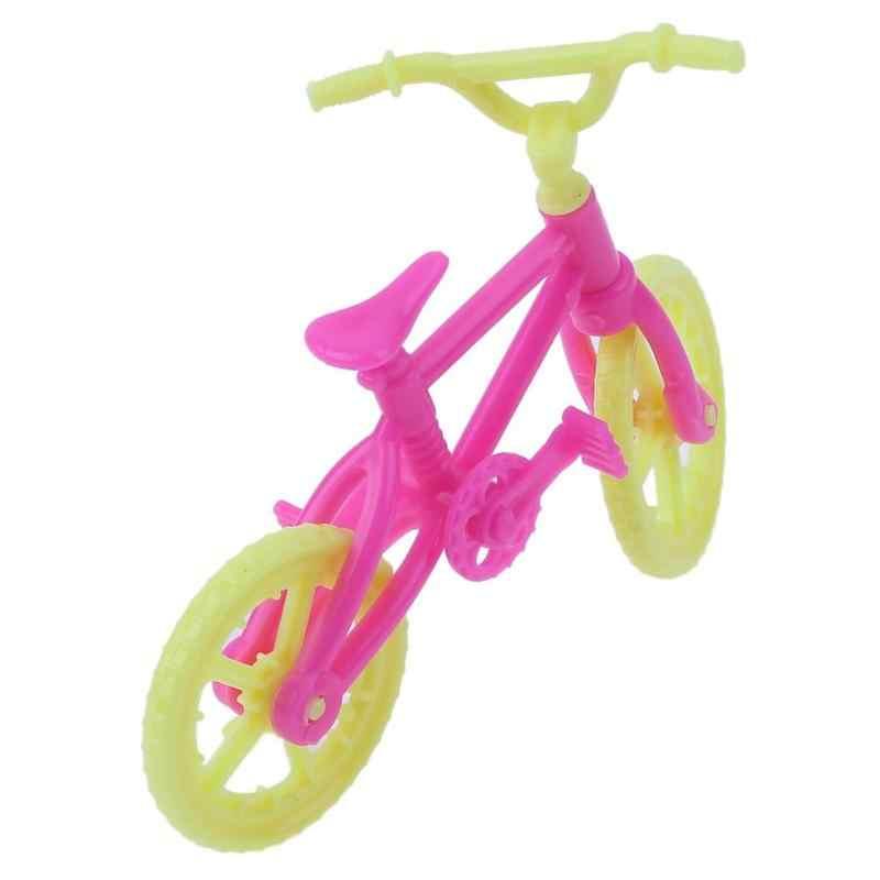 Ручной работы велосипеды 2 шт./компл. мини велосипед аксессуары для куклы для малышей и детей постарше игровой домик игрушки модные Пластик велосипед, способный преодолевать Броды для куклы Барби для девочек игрушка
