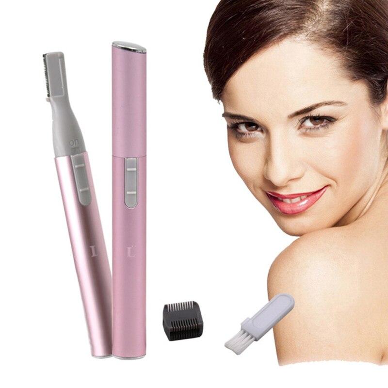 Электрический эпилятор для лица, ножницы для бровей, триммер для волос, мини портативный, для женщин, для удаления бритвы, лезвия, эпилятор