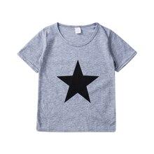 Футболка для мальчиков летняя детская одежда с принтом Звезды футболки с короткими рукавами детский костюм хлопковые топы для мальчиков, Детская футболка Топы для детей