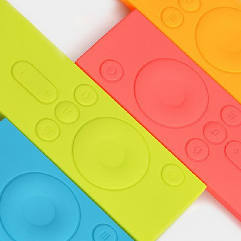 Soft Silicone TPU Protective Case Remote Colorful Rubber Cover Case for Xiaomi Remote Control Mi TV Box drop shipping 30 in Remote Control Covers from Home Garden